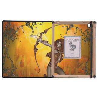 Beautiful elves with bow and arrow cases for iPad