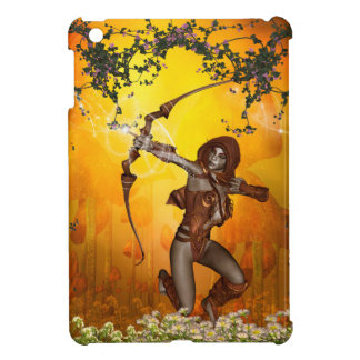 Beautiful elves with bow and arrow iPad mini covers