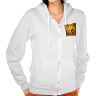 Beautiful elves with bow and arrow hooded pullovers