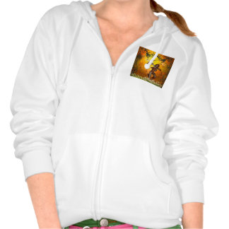 Beautiful elves with bow and arrow hooded pullover