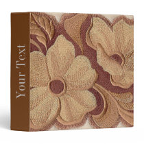 Beautiful Embroidery Flowers 3 Ring Binder
