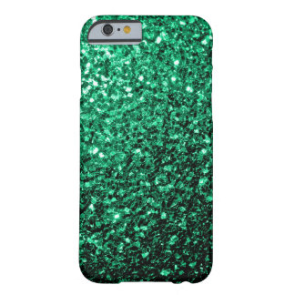 Beautiful Emerald Green glitter sparkles Barely There iPhone 6 Case