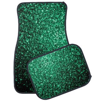 Beautiful Emerald Green glitter sparkles Car Mat