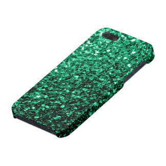 Beautiful Emerald Green glitter sparkles iPhone 5 Covers