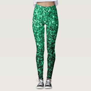 2757f39eb2132 Beautiful Emerald Green glitter sparkles Leggings