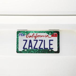 Beautiful Emerald Green glitter sparkles License Plate Frame