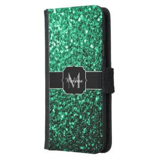 Beautiful Emerald Green glitter sparkles Monogram
