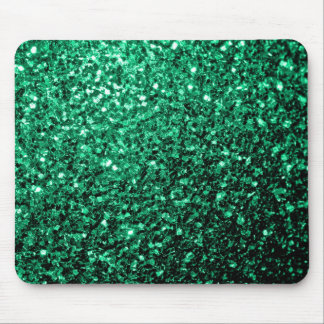 Beautiful Emerald Green glitter sparkles Mouse Pad