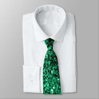Beautiful Emerald Green glitter sparkles Neck Tie