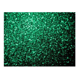 Beautiful Emerald Green glitter sparkles Postcard