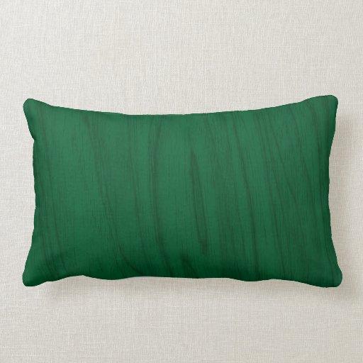 Beautiful Emerald Green Wood Texture Lumbar Pillow