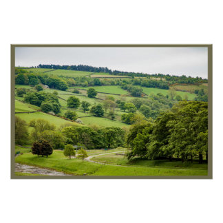 Beautiful English Landscape Yorkshire Dales Poster