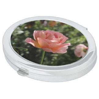 Beautiful English Rose Compact Makeup Mirror