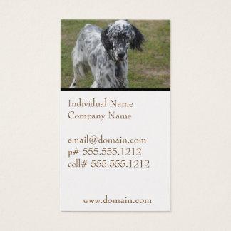 Beautiful English Setter Dog Business Card