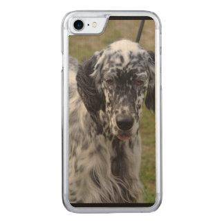 Beautiful English Setter Dog Carved iPhone 8/7 Case