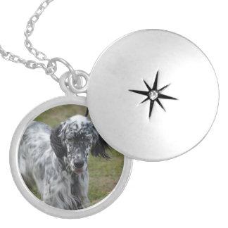 Beautiful English Setter Dog Locket Necklace