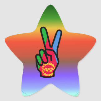 Beautiful Eritrea Flag Star Sticker