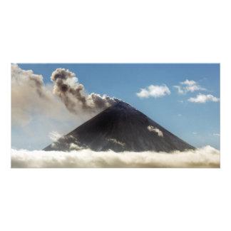 Beautiful erupting Kamchatka volcano Card