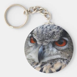 Beautiful Eurasian Eagle-Owl portrait Keychain
