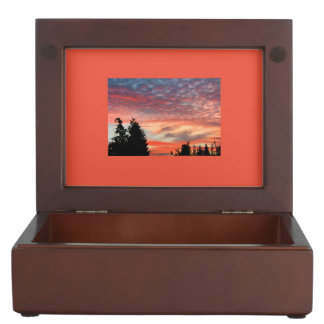 beautiful evening-red with fleecy clouds memory box