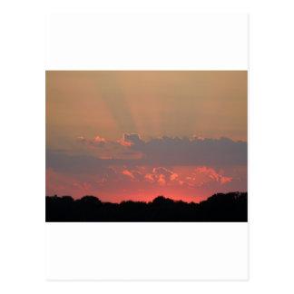 Beautiful evening sky! postcard