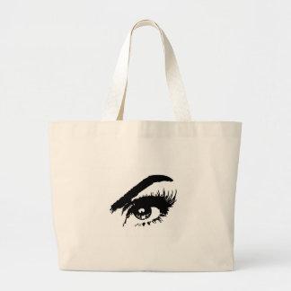 Beautiful Eye in Black & White Large Tote Bag
