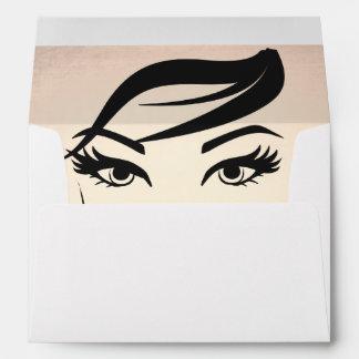 Beautiful Eyelashes and Brows Beauty Salon Envelope