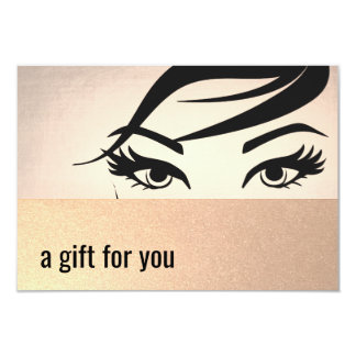 Beautiful Eyelashes and Brows Gift Certificate Card
