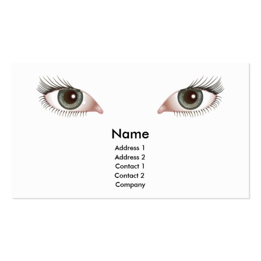 beautiful eyes business card design