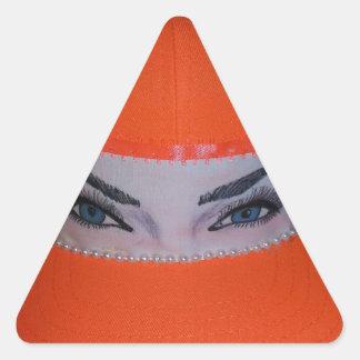 """Beautiful Eyes"" cap Triangle Sticker"