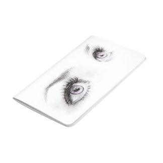 Beautiful eyes drawing minimalist art Journal