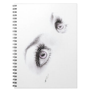 Beautiful eyes drawing minimalist art Notebook