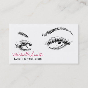 beautiful eyes long lashes lash extension business card - Eyelash Business Cards
