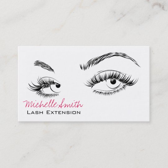 beautiful eyes long lashes lash extension business card - Lash Extension Business Cards