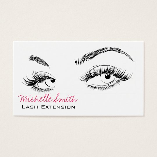 Beautiful eyes long lashes lash extension business card for Eyelash extension gift certificate template
