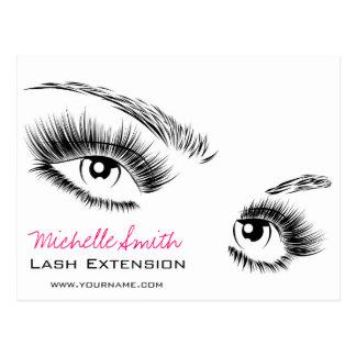 Beautiful eyes Long lashes Lash Extension Postcard
