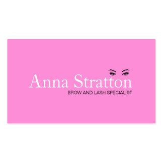 Beautiful Eyes Pink Lash and Brows Business Card