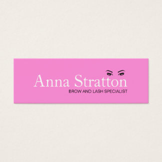 Beautiful Eyes Pink Lash and Brows Mini Business Card