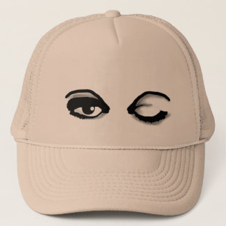 BEAUTIFUL EYES with a WINK ON YOUR HAT