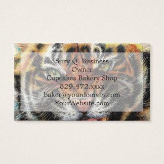 Beautiful face of big cat. business card