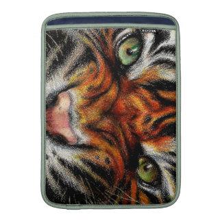 Beautiful face of big cat. MacBook air sleeves