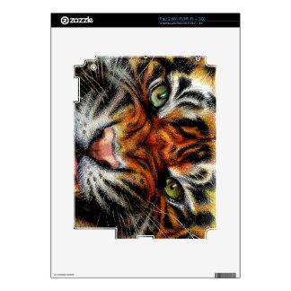 Beautiful face of big cat. skins for iPad 2