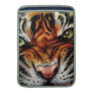 Beautiful face of big cat. sleeve for MacBook air