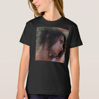 Beautiful face on T-shirt