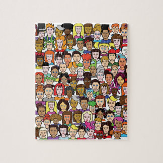 Beautiful Faces Jigsaw Puzzle