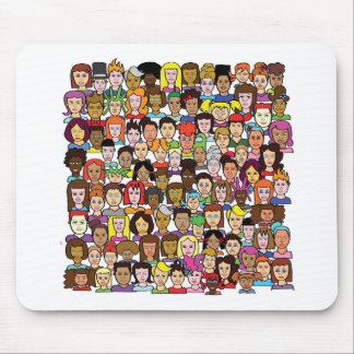 Beautiful Faces Mouse Pad