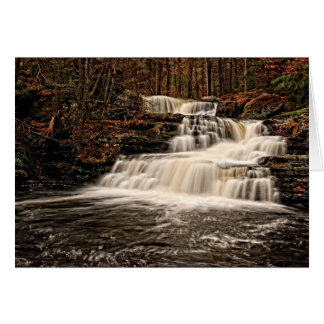 Beautiful Factory Falls in Autumn Card