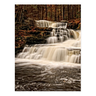 Beautiful Factory Falls in Autumn Postcard