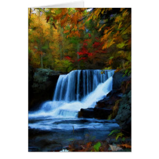 Beautiful Factory Falls in the Autumn, Poconos Card