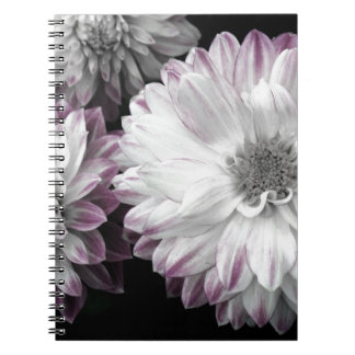 Beautiful faded dahlia print notebook